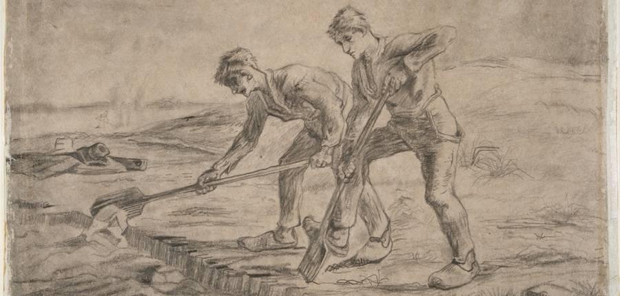 """""""Les Bêcheurs"""" de Van Gogh © Michel Lefrancq"""
